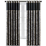 Madison Park Light-Filtering Rod-Pocket Set of 2 Curtain Panel