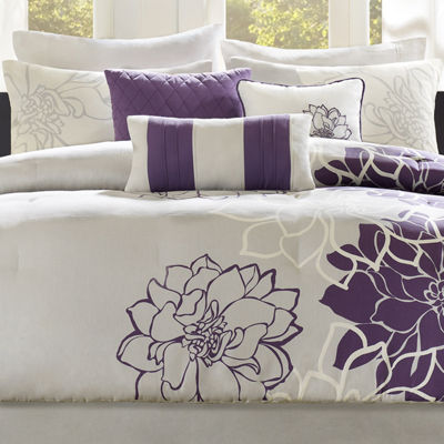 Madison Park Bridgette Floral Comforter Set