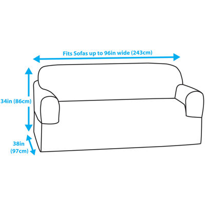 Maytex Smart Cover® Pixel Stretch 1-pc. Loveseat Slipcover