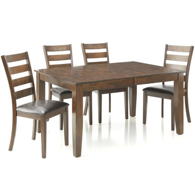 Landry 5-pc. Extendable Dining Set with 4 Ladderback Chairs