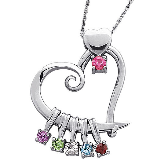 views light more necklace crystal sterling pendant birthstone silver october rose