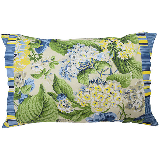 "Waverly® Floral Florish 22"" Oblong Decorative Pillow"