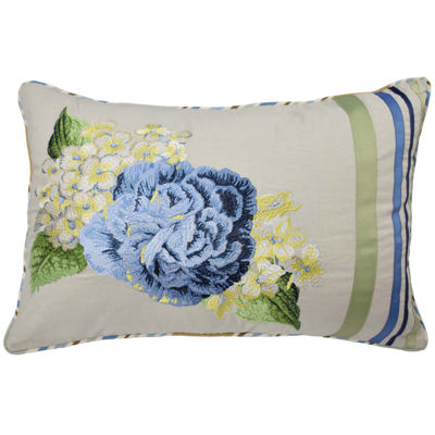 "Waverly® Floral Flourish 20"" Oblong Decorative Pillow"