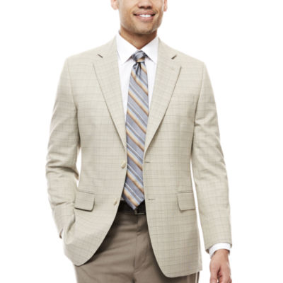 Stafford® Travel Year Round Plaid Sport Coat - Classic