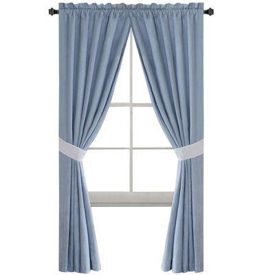 Harbor House Crystal Beach 2-Pack Rod-Pocket Curtain Panels