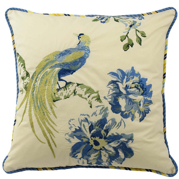 "Waverly® Floral Engagement 18"" Square Decorative Pillow"