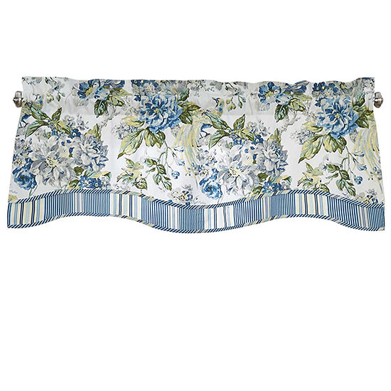 Waverly® Floral Engagement Rod-Pocket Lined Valance