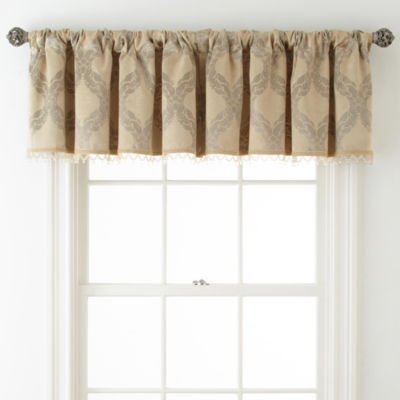 Royal Velvet® Allure Room-Darkening Rod-Pocket/Back-Tab Tailored Valance