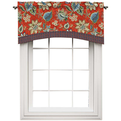 Brighton Blossom Rod-Pocket Arch Valance