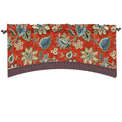 Waverly Brighton Blossom Rod-Pocket Arch Valance