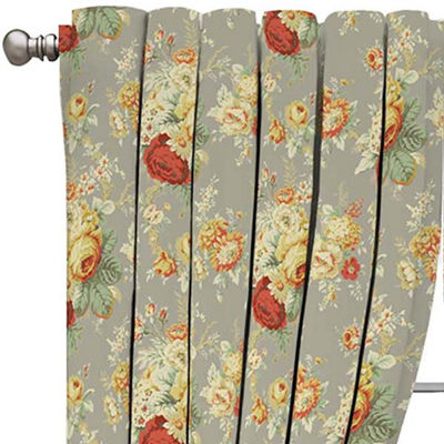 Sanctuary Rose Rod-Pocket Curtain Panel