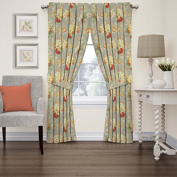 Sanctuary Rose Rod Pocket Curtain Panel