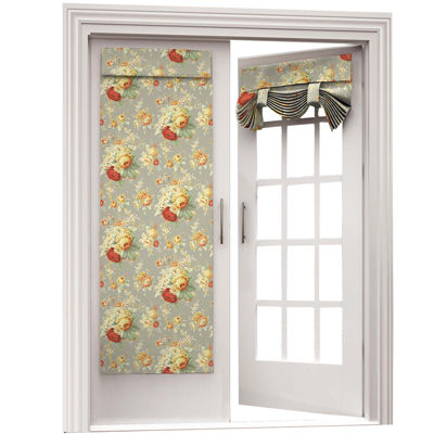 Waverly Sanctuary Rose Rod Pocket Door Panel