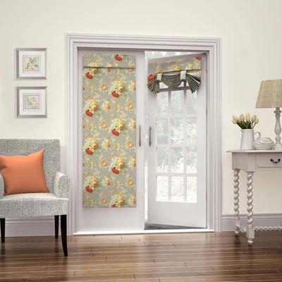 Waverly Sanctuary Rose Rod-Pocket Door Panel