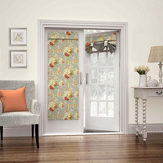 Waverly Sanctuary Rose Rod Pocket Door Panel