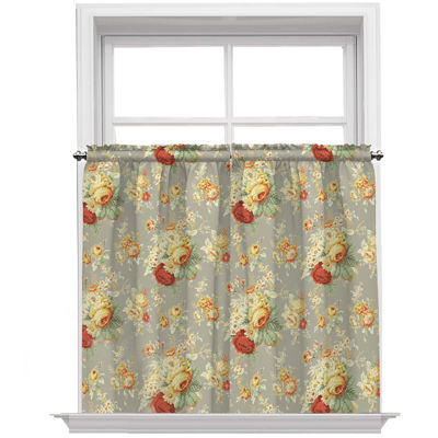 Sanctuary Rose Rod-Pocket Window Tiers