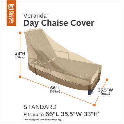 Classic Accessories® Veranda Medium Day Chaise Lounge Chair Cover