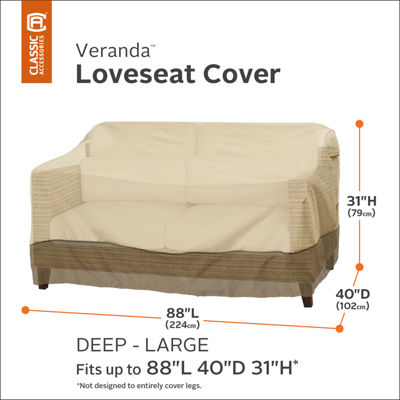 Classic Accessories® Veranda Large Deep Loveseat Cover