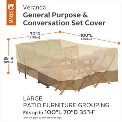 Classic Accessories® Veranda Large Furniture Set Cover
