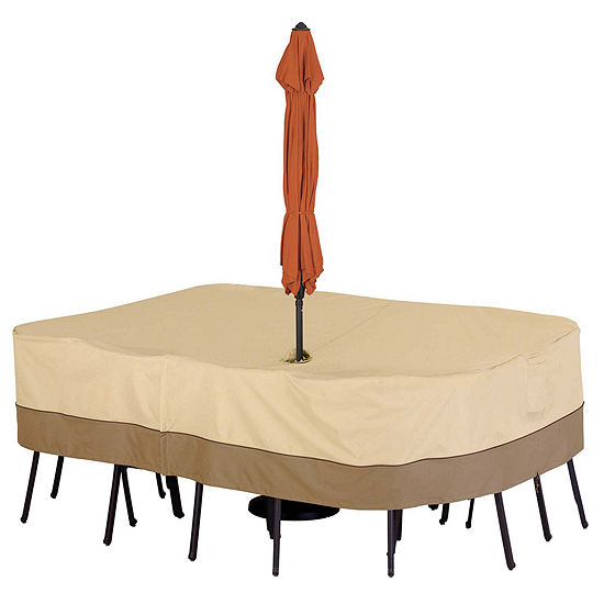 Classic Accessories® Veranda Large Rectangular/Oval Table With Umbrella Hole Cover