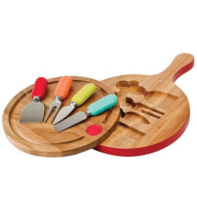 Fiesta® 4-pc. Multicolor Cheese Tool & Swivel-Top Board Set
