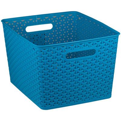 Home Basics Medium Plastic Storage Basket