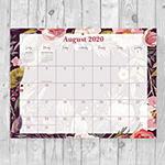"Tf Publishing July 2020 - June 2021 Foliage And Flowers Mini 9"" X 12"" Desk Pad Monthly Blotter Desktop Calendar"