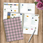 "Tf Publishing July 2020 - June 2021 Petal Plaid Medium 6"" X 8"" Daily Weekly Monthly Planner + Coordinating Planning Stickers"