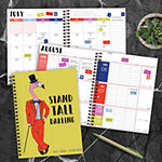 "Tf Publishing July 2020 - June 2021 Tall Flamingo Medium 6"" X 8"" Daily Weekly Monthly Planner + Coordinating Planning Stickers"