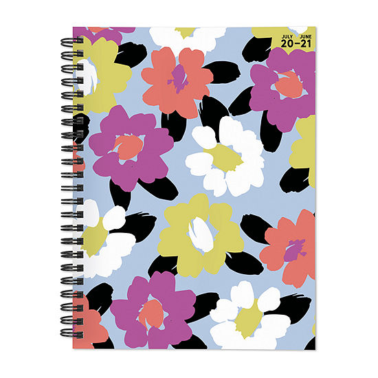 "Tf Publishing July 2020 - June 2021 Floral Print Medium 6"" X 8"" Daily Weekly Monthly Planner + Coordinating Planning Stickers"