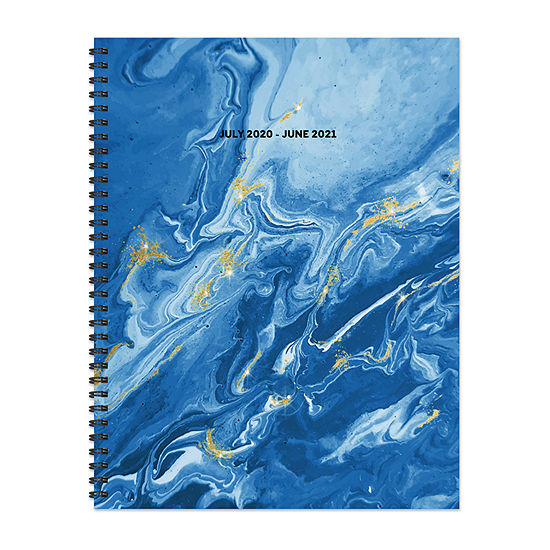 "Tf Publishing July 2020 - June 2021 Blue Marble Large 8.5"" X 11"" Daily Weekly Monthly Planner + Coordinating Planning Stickers"
