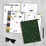 "Tf Publishing July 2020 - June 2021 Lots Of Leopards Large 8.5"" X 11"" Daily Weekly Monthly Planner + Coordinating Planning Stickers"