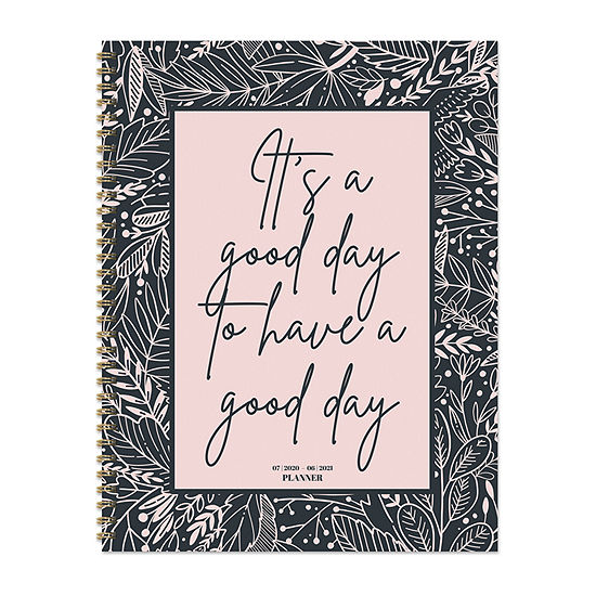 "Tf Publishing July 2020 - June 2021 Good Day Large 8.5"" X 11"" Daily Weekly Monthly Planner + Coordinating Planning Stickers"