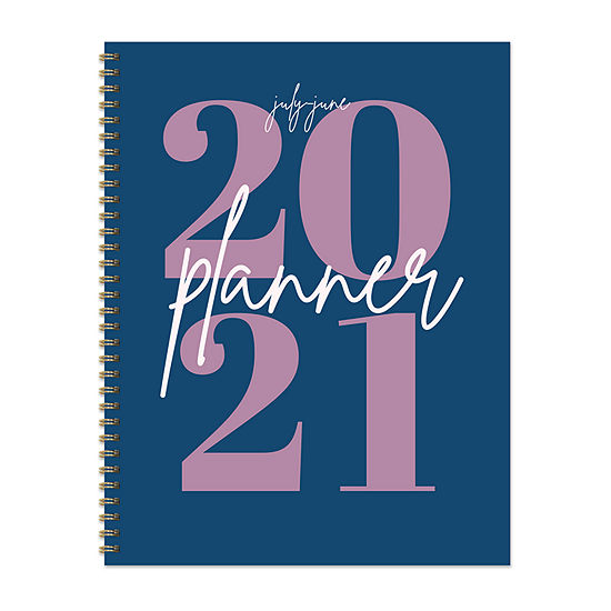 """Tf Publishing July 2020 - June 2021 Big Blue Year Large 8.5"""" X 11"""" Daily Weekly Monthly Planner + Coordinating Planning Stickers"""