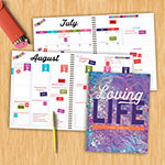 "Tf Publishing July 2020 - June 2021 Loving Life Large 8.5"" X 11"" Daily Weekly Monthly Planner + Coordinating Planning Stickers"