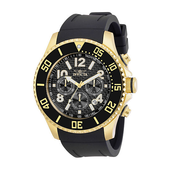Invicta Pro Diver Mens Black Strap Watch-30987