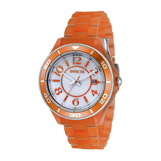 Invicta Anatomic Womens Orange Bracelet Watch - 30358