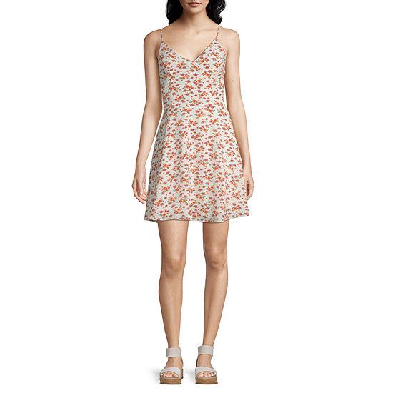B. Smart-Juniors Sleeveless Floral Fit & Flare Dress