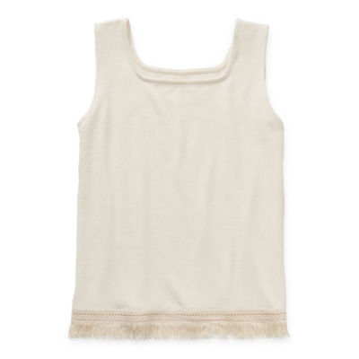 Arizona Little & Big Girls Square Neck Tank Top