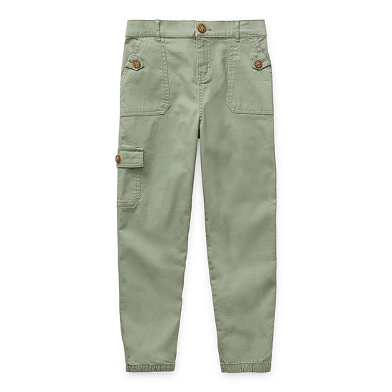 Arizona Little & Big Girls Cuffed Pull-On Pants