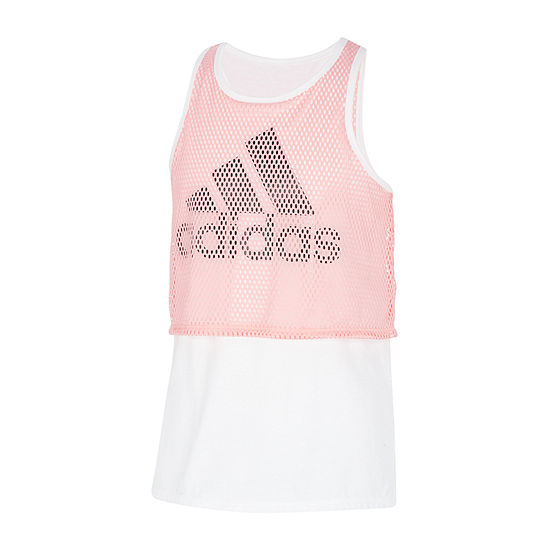 adidas Big Girls Scoop Neck Tank Top