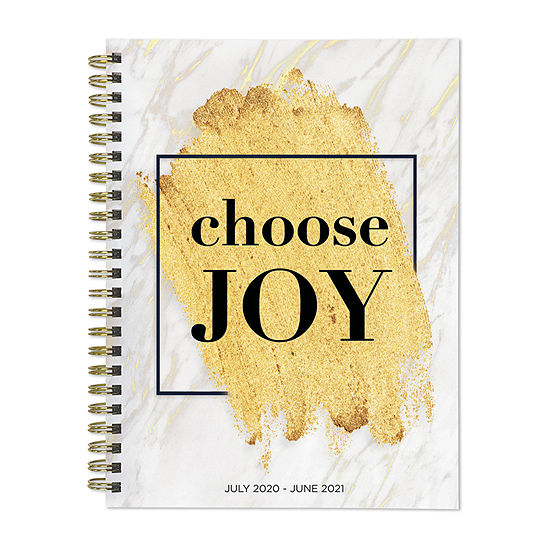 "Tf Publishing July 2020 - June 2021 Choose Joy Medium 6"" X 8"" Daily Weekly Monthly Planner + Coordinating Planning Stickers"