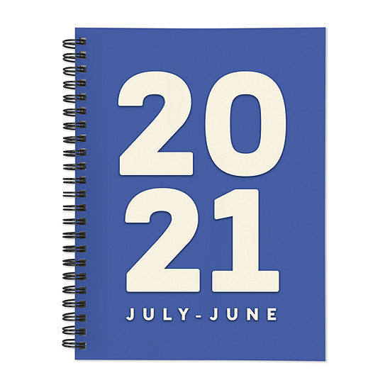 """Tf Publishing July 2020 - June 2021 Blue For You Medium 6"""" X 8"""" Daily Weekly Monthly Planner + Coordinating Planning Stickers"""