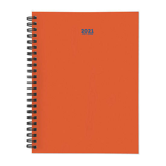 """Tf Publishing July 2020 - June 2021 Orange You Glad Medium 6"""" X 8"""" Daily Weekly Monthly Planner + Coordinating Planning Stickers"""