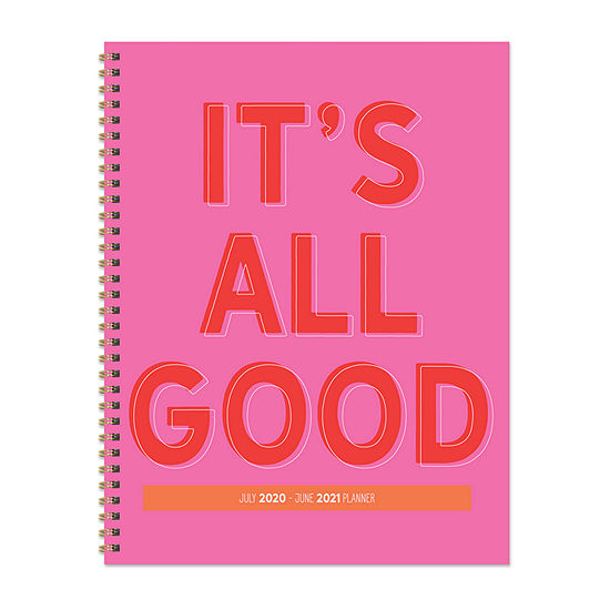 "Tf Publishing July 2020 - June 2021 It's All Good Large 8.5"" X 11"" Daily Weekly Monthly Planner + Coordinating Planning Stickers"