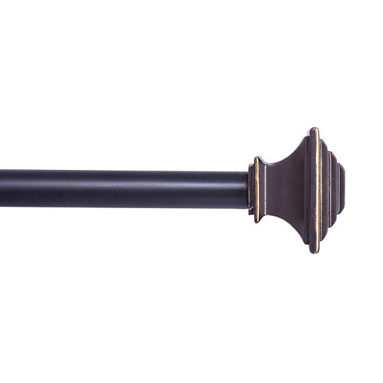 Kenney® Fast Fit™ Easy Install Mission Curtain Rod