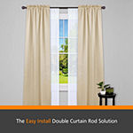 Kenney® Fast Fit™ Easy Install Birkin Double Curtain Rod