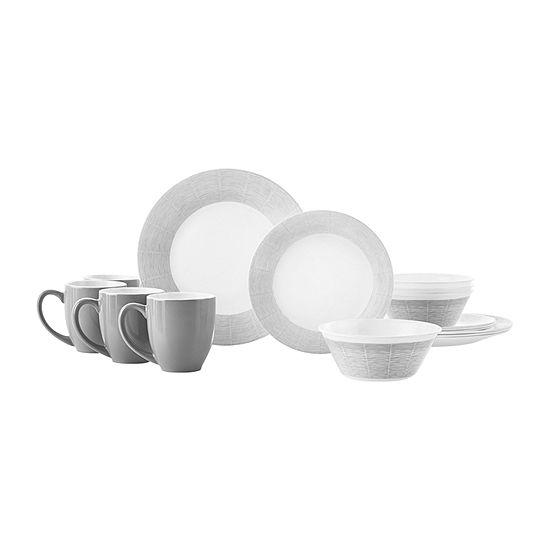 Corelle Woven Lines 16-pc. Dinnerware Set