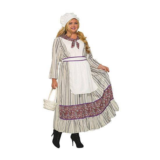 Womens Curvy Pioneer Woman Costume Plus