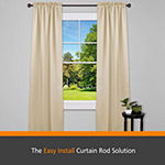 Kenney® Fast Fit™ Easy Install Carey Curtain Rod